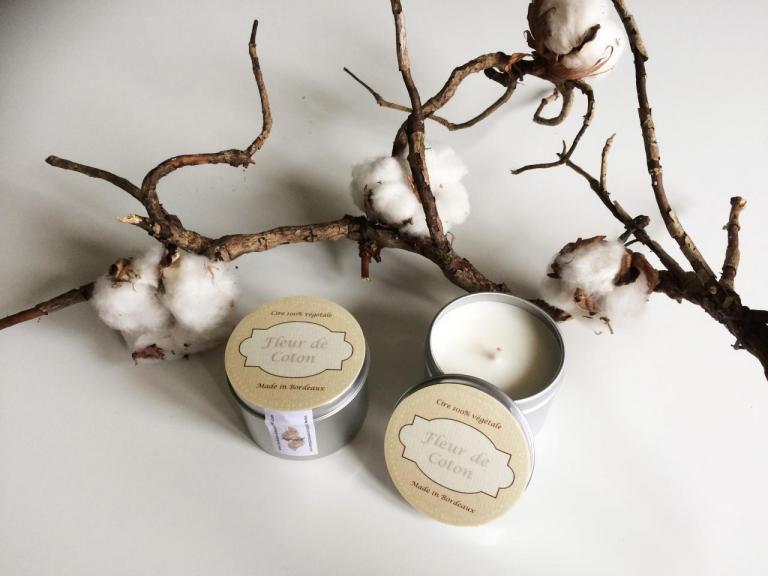 Bougie standard Fleurs de Coton